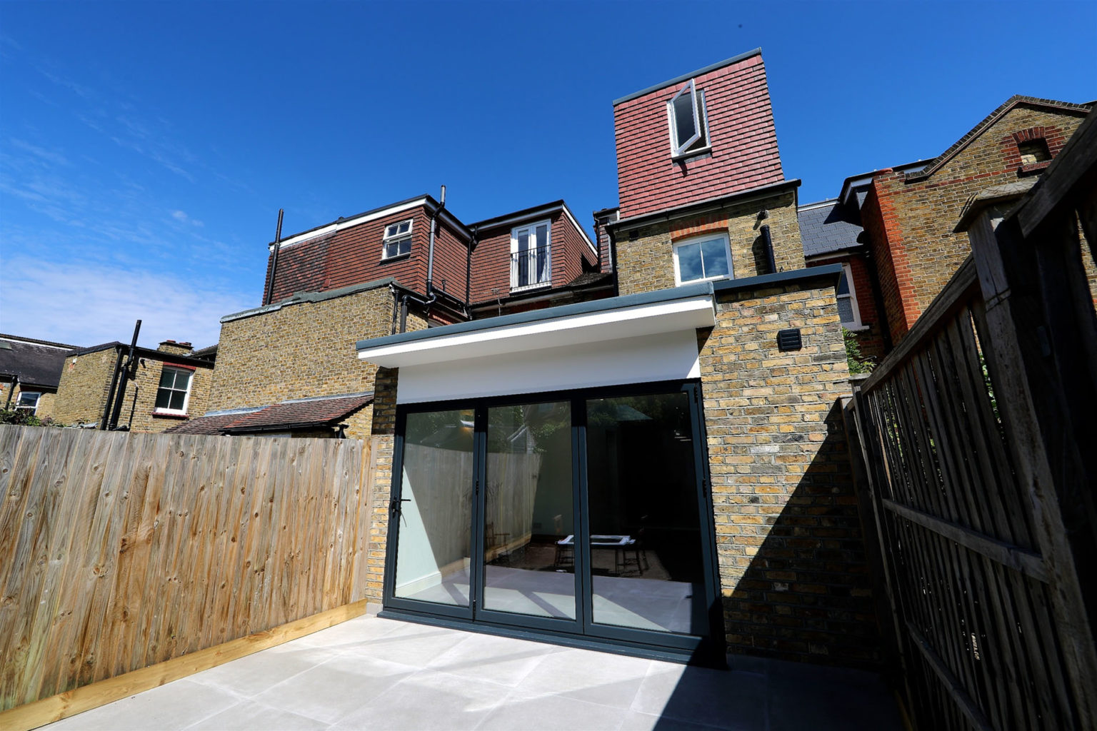 Rose Line Construction - External view Rear extension