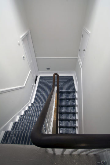 Period property refurbishment 4th floor staircase view