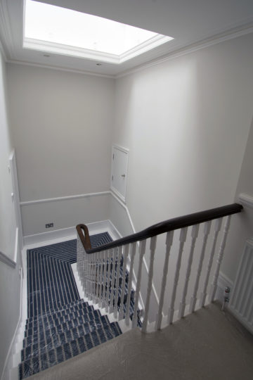 Period property refurbishment 5th floor landing