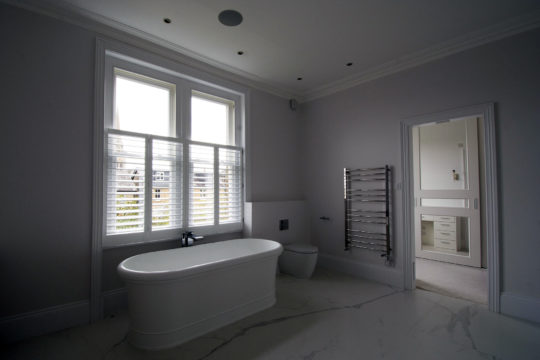 Period property refurbishment master bathroom
