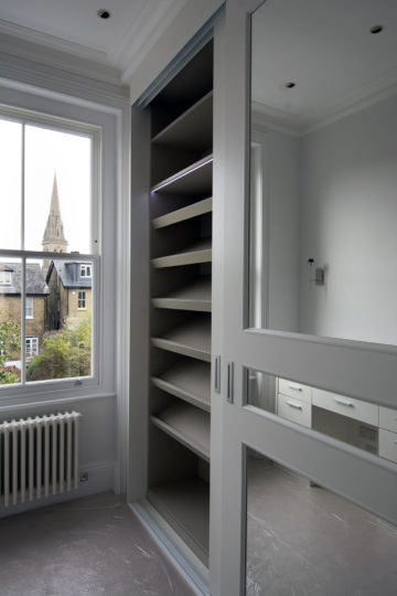 Period property refurbishment fitted wardrobe detailing