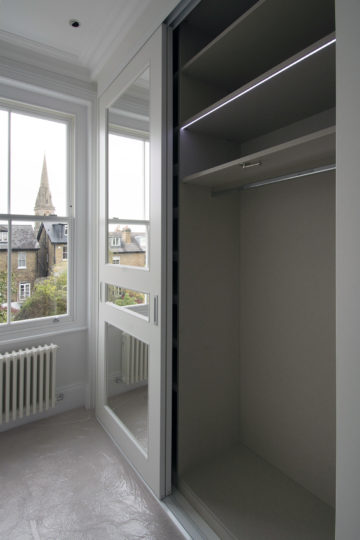 Period property refurbishment fitted wardrobe hanging space