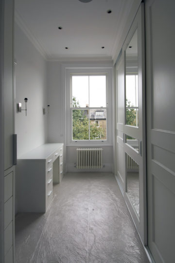 Period property refurbishment dressing room