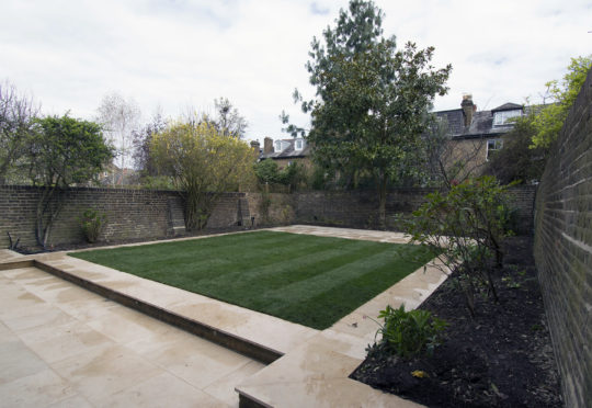 Garden terraced landscaping
