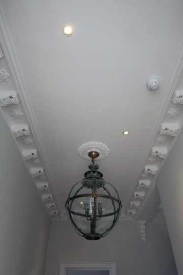 Period property ceiling renovation detail