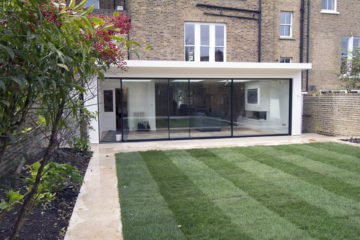 Full width glass extension