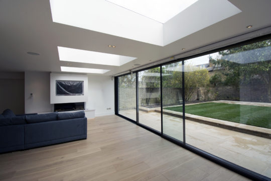 Period property rear extension interior view