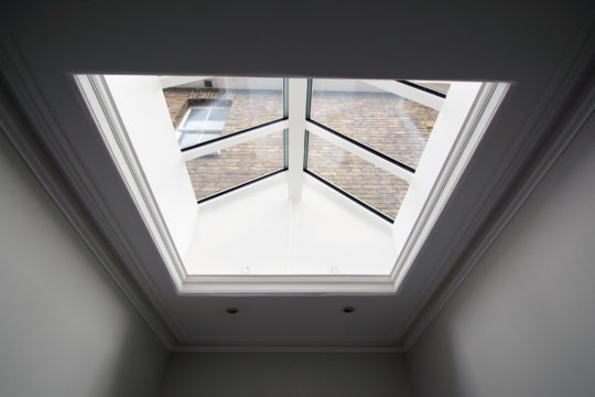 Period property refurbishment skylight detail