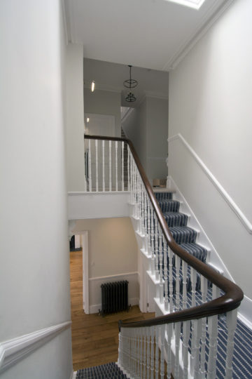 Period property first floor staircase refurbishment